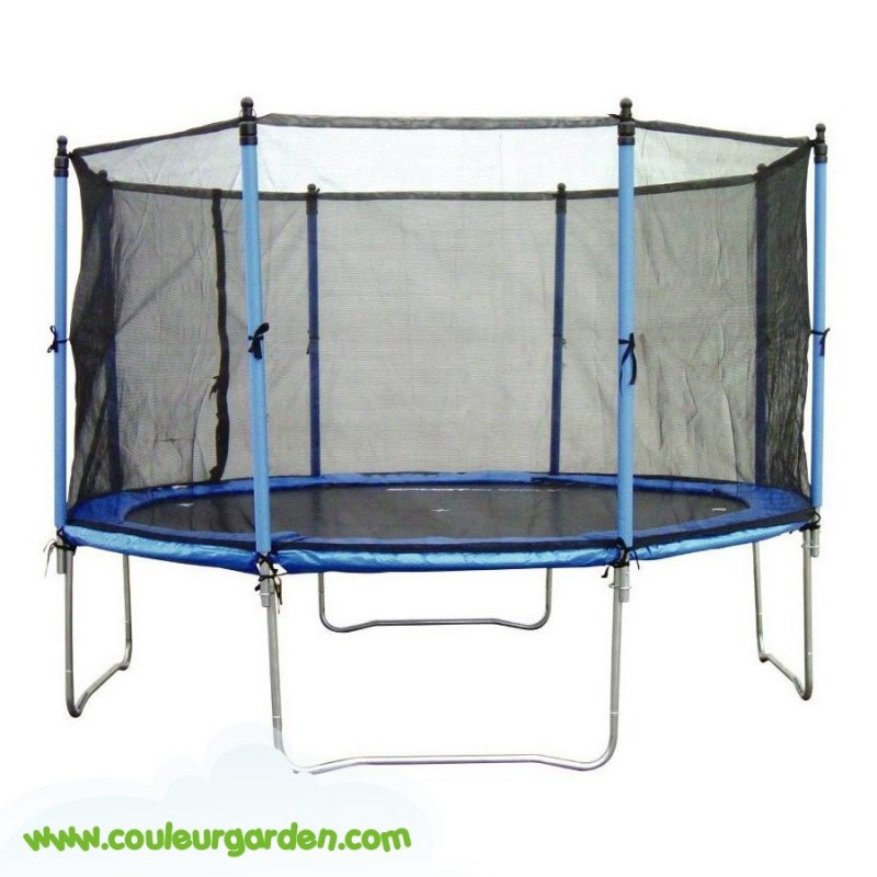 trampoline de 305 cm de diametre avec filet de securite. Black Bedroom Furniture Sets. Home Design Ideas