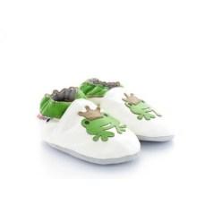 chaussons-bebes-en-cuir-souple-grenouille