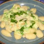 Gnocchi with Basil Cream Sauce