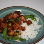 Mushroom and Tofu Stir Fry in Black Bean Sauce