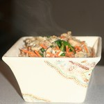 Farro Salad with Carrots, Mushrooms and Baby Spinach