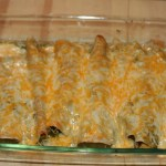 Spinach and Tofu Enchiladas Verde