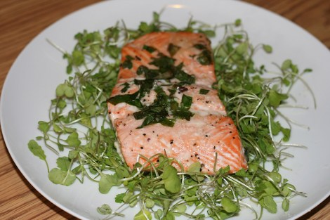 Baked-Salmon-with-Wasabi-Microgreens