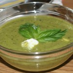 Chilled Pea and Basil Soup