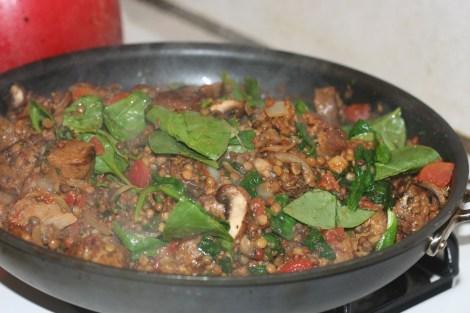 sausage-and-lentil-mixture
