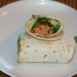 Wasabi Salmon Burger Wraps