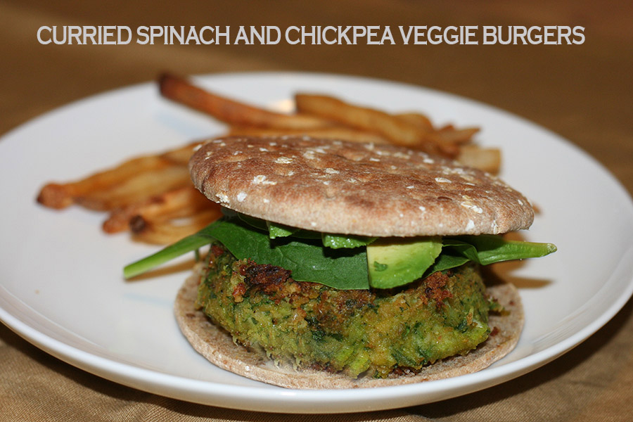 Curried Spinach and Chickpea Veggie Burgers | Confident Cook, Hesitant ...