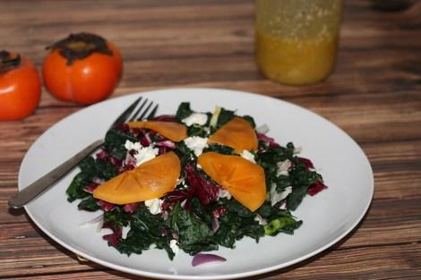 persimmonandkalesalad