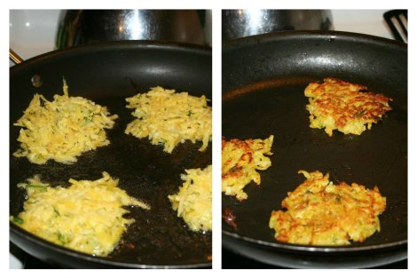 latkes frying