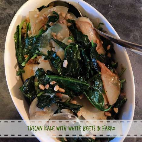kale with white beets