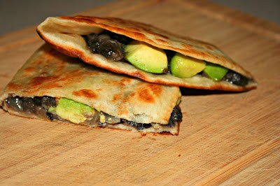 Black Bean and Avocado Quesadillas