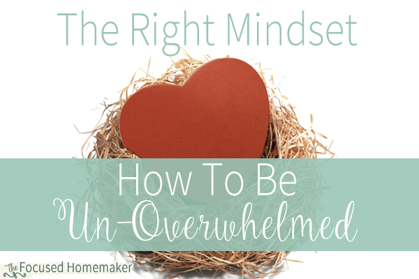 The Right Mindset- How To Be Un-Overwhelmed Part 2