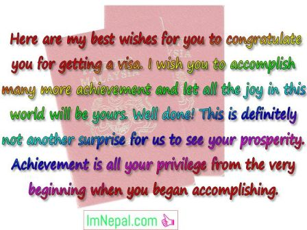 Congratulations Messages For Getting Visa - Best Wishes, SMS  Quotes