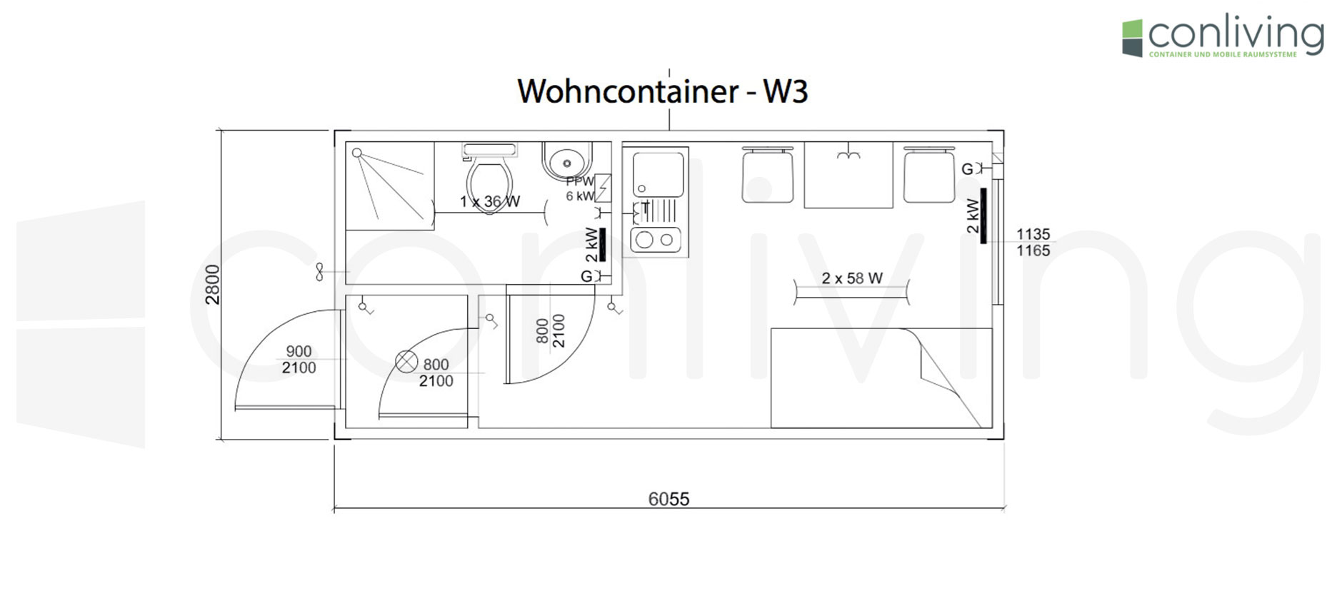 Bürocontainer Maße Wohncontainer Conliving Gmbh Container