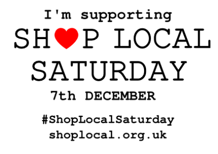 We are supporting Shop Local Saturday!