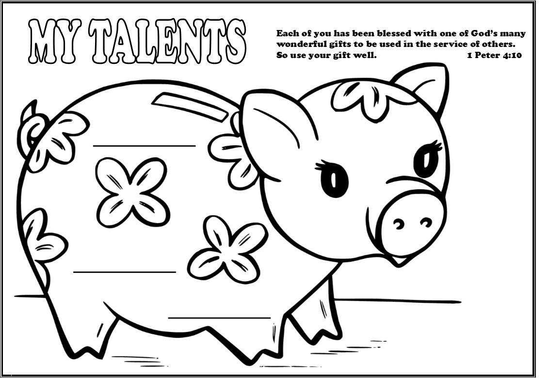 Parable Of The Talents Coloring Page - Eskayalitim
