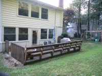 Build Build Wood Deck Over Concrete Patio DIY small