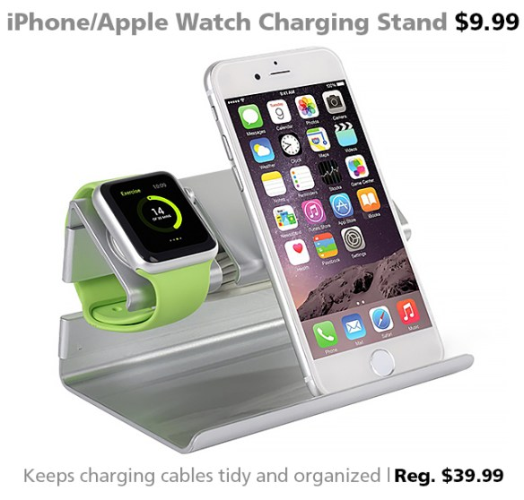 Bentoben Dual Stand Charging Station for iPhone and Apple Watch $9.99 (reg. $39.99)