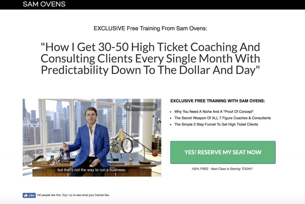 How Sam Ovens Used Facebook Ads To Build An 8-Figure Empire (Case Study)