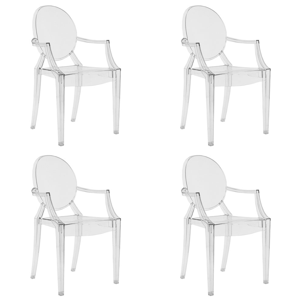 Philippe Starck Ghost Chair Kartell Louis Ghost Armchair Set Of 4 Designed By Philippe Starck