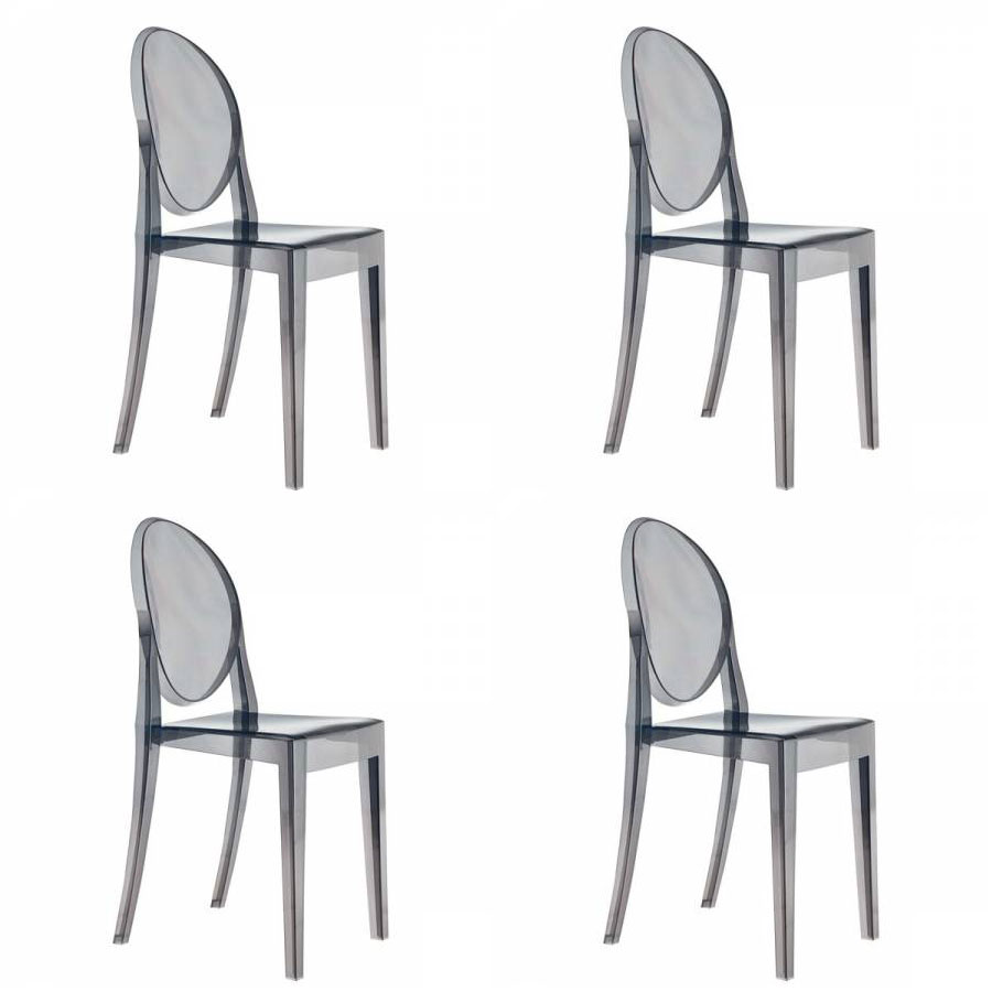 Philippe Starck Ghost Chair Set Of 4 Kartell Victoria Ghost Chairs Designed By Philippe Starck