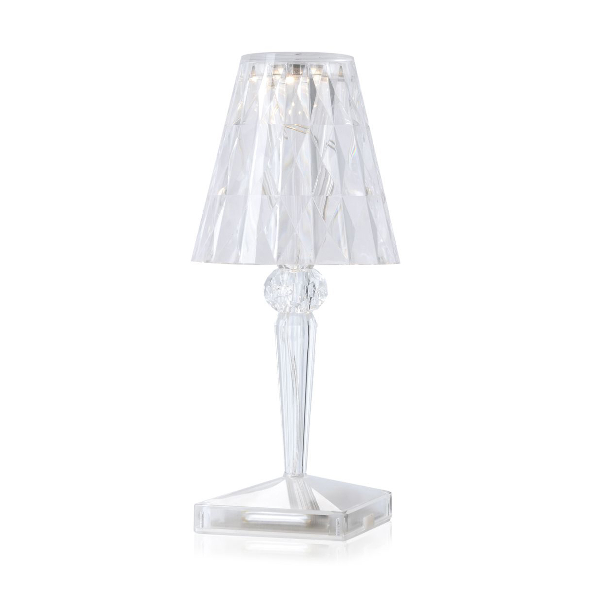 Lamp Kartell Kartell Battery Table Lamp 100 Rechargeable Transparent Light