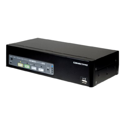 UVV-14A+ - 4-port USB Dual VGA KVM switch w/ DDM & multi-hotkey