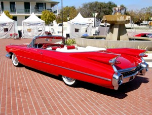 Red Cadillac by Partywave http://www.deviantart.com/art/red-1959-Cadillac-tailfins-138267320 by Partywave titled red 1959 Cadillac tailfins