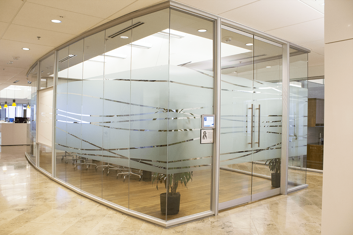 Translucent Window Film Hot Trend In Facility Graphics Frosted Glass Window Film