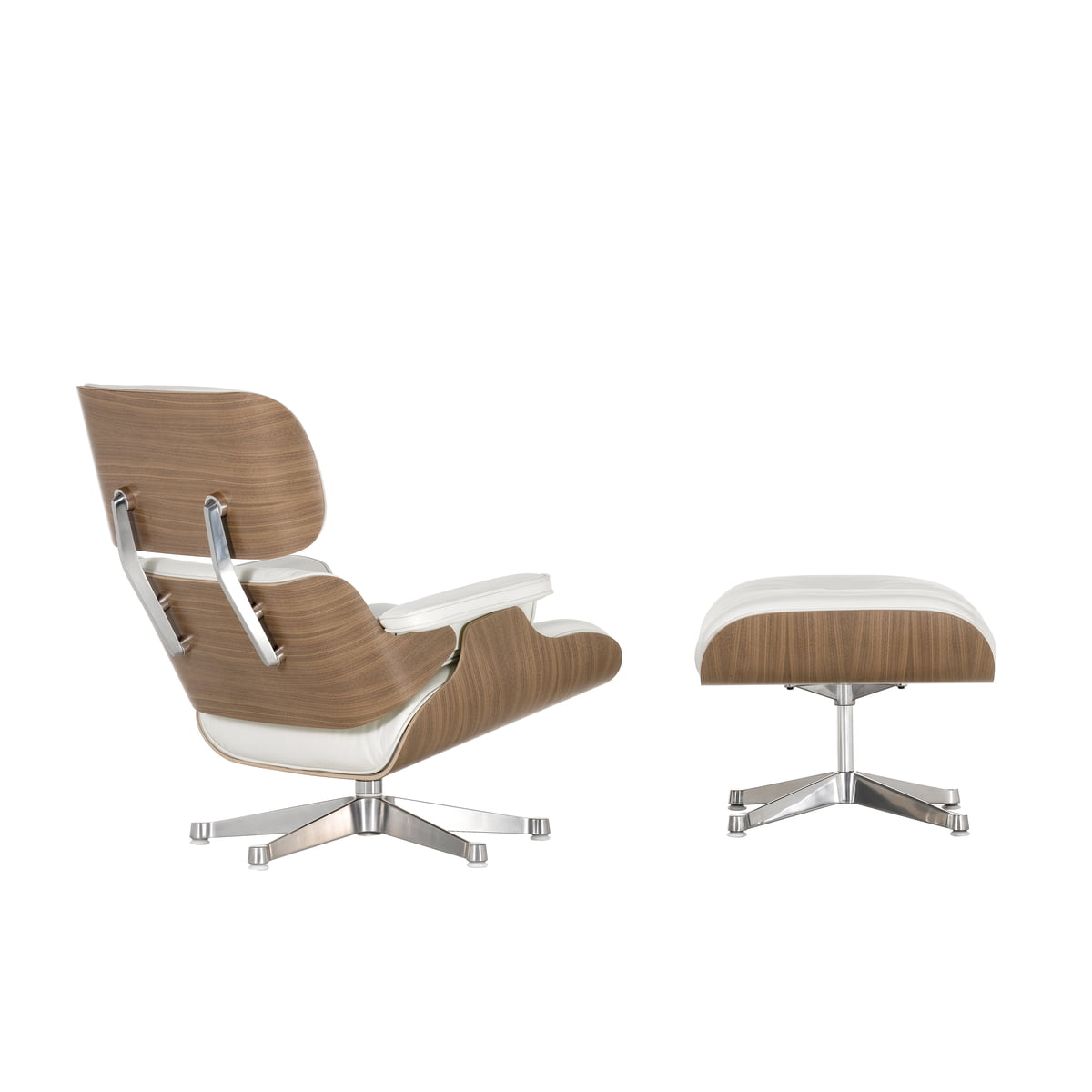 Eames Lounge Sessel Vitra Eames Lounge Chair And Ottoman Walnut White