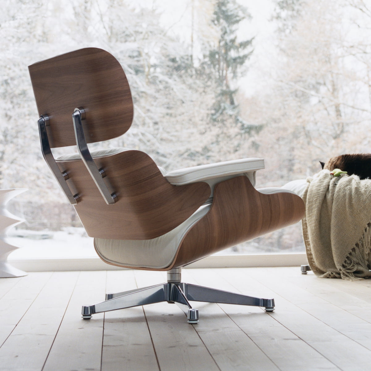 Vitra Eames Sessel Vitra Lounge Chair In Weiß Im Wohndesign Shop