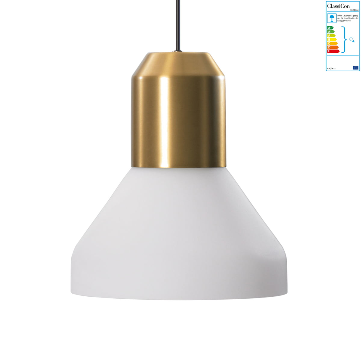 Pendelleuchten Messing Classicon Bell Light Pendelleuchte Messing Opalglas