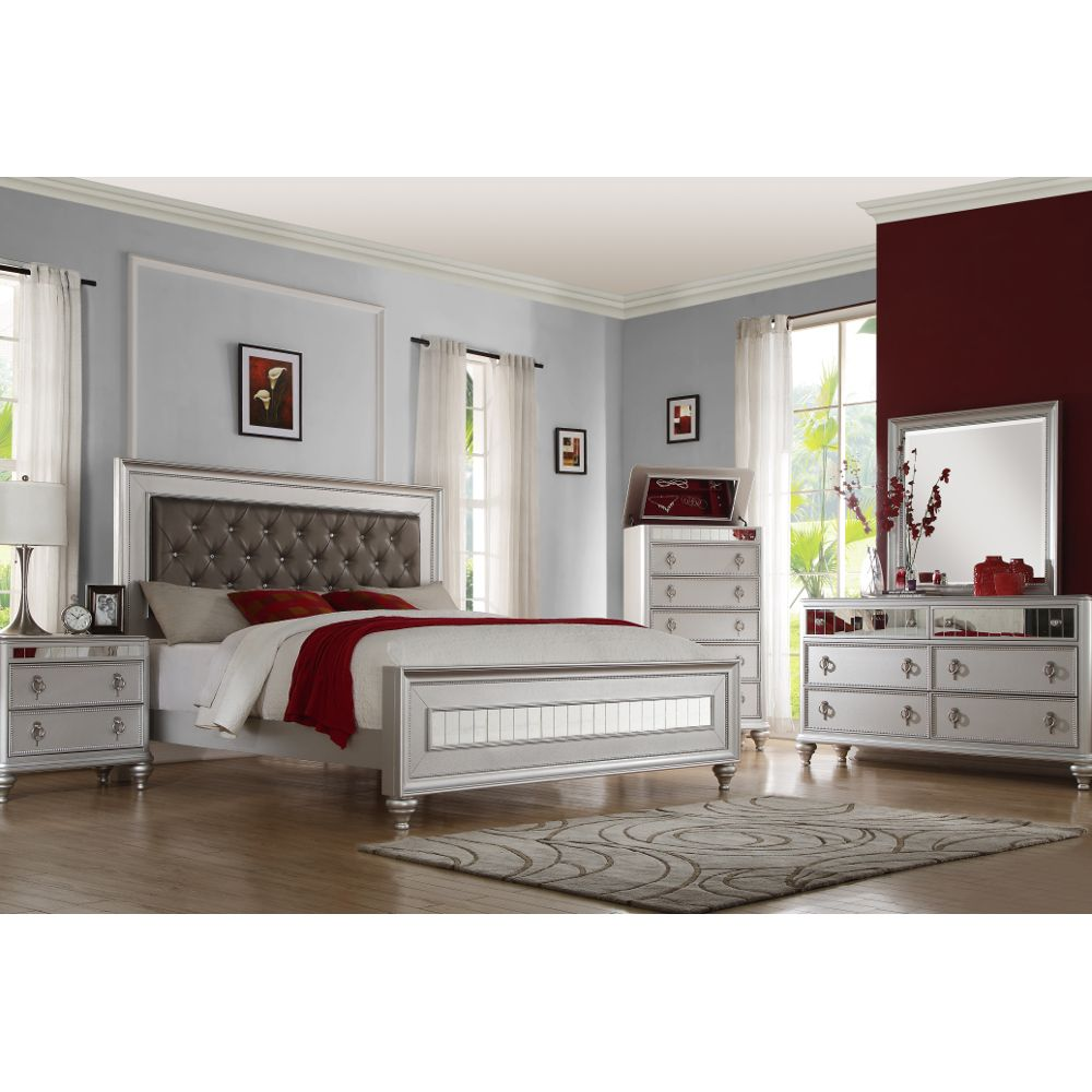 Carousel Silver Queen Bedroom Set Austin Group 59160 Conn S