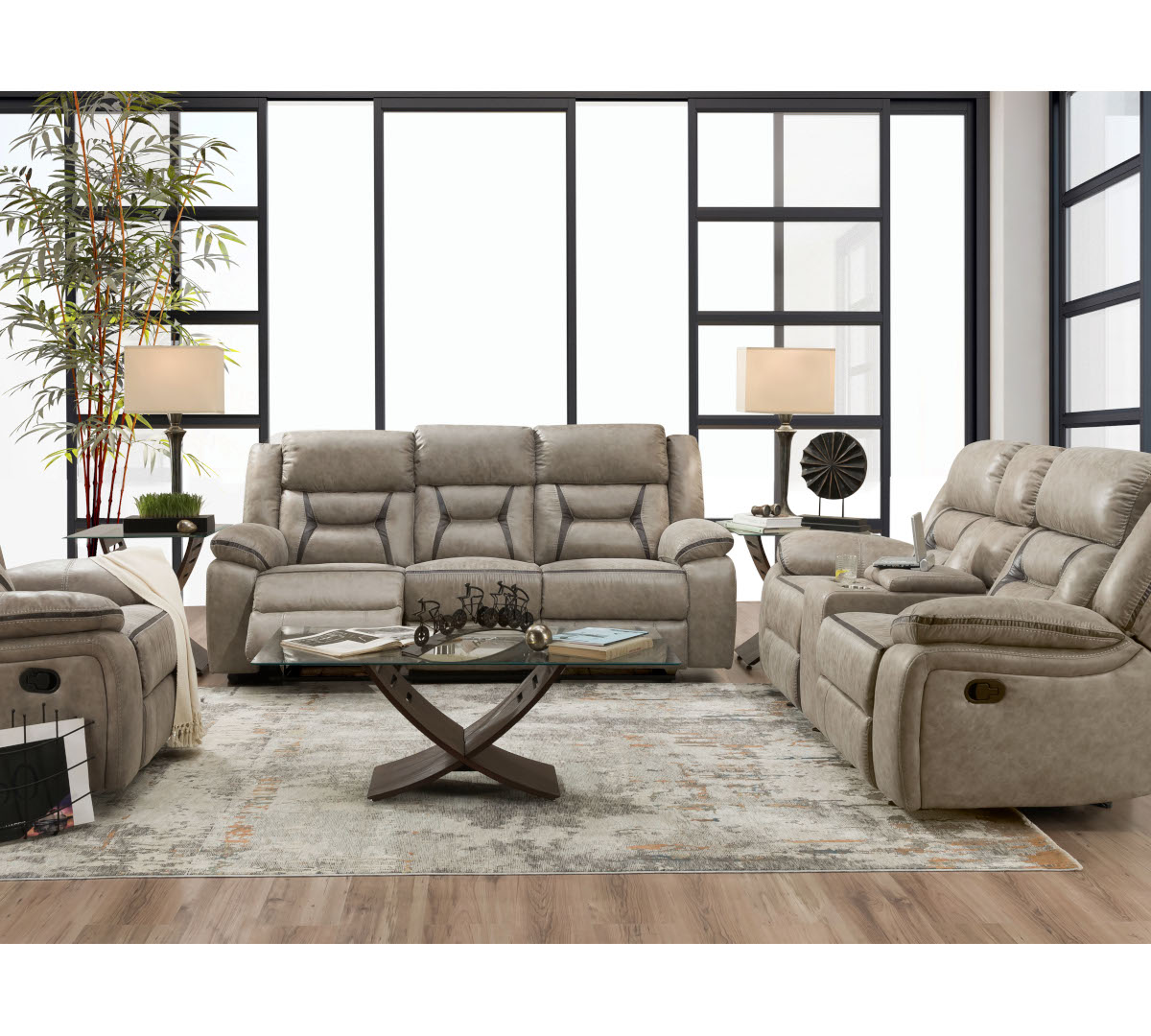 Maxwell Collection 2pc Sofa Reclining Loveseat Conn S Homeplus