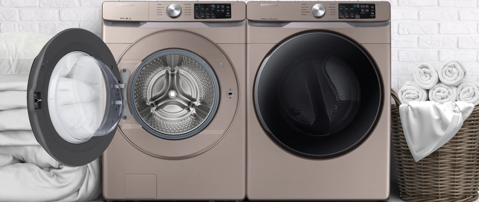 Samsung Front Load Washer Samsung 4 5 Cu Ft Front Load Washer W Steam Wf45r6100ac