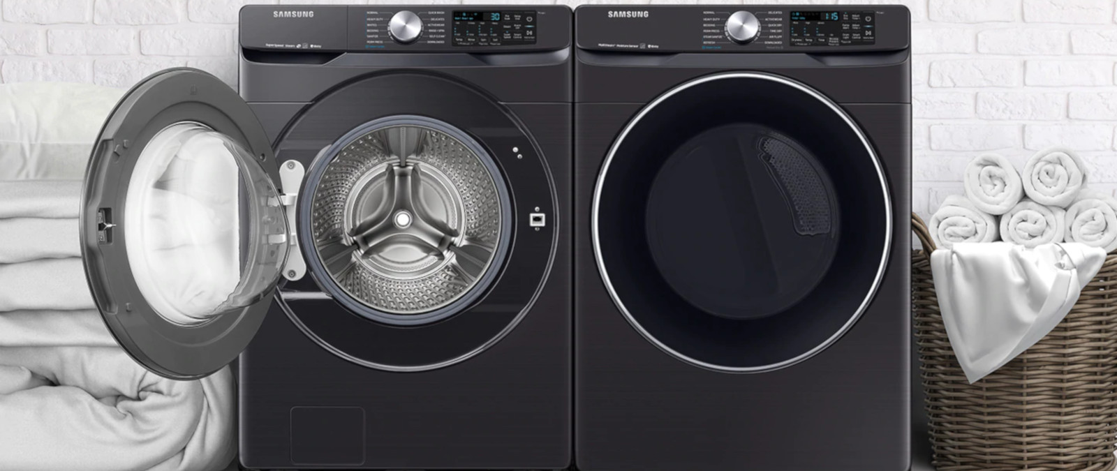 Samsung Front Load Washer Samsung 4 5 Cu Ft Smart Front Load Washer W Super Speed Wf45r6300av