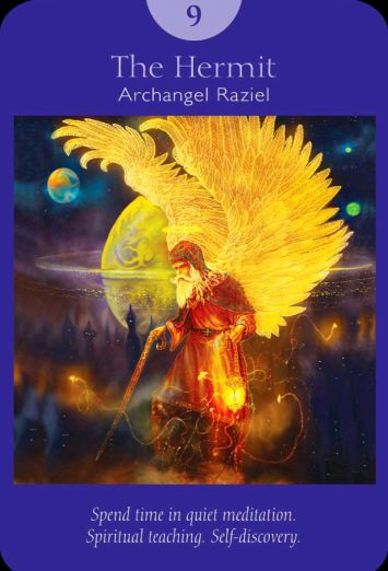 Hermit angel oracle card