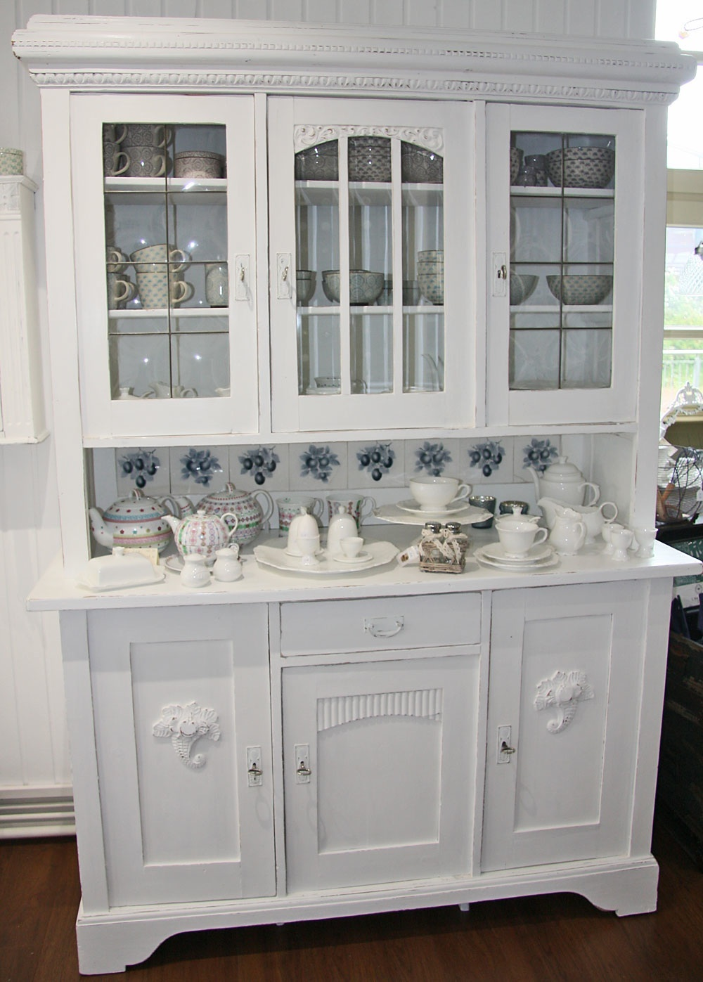 Küchenbuffet Weiß Antik