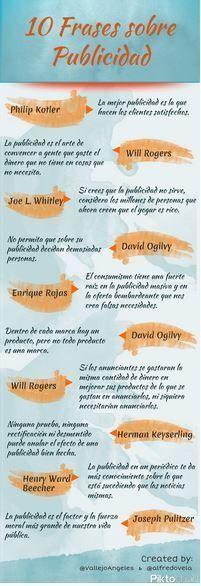 Infografía 10 Frases Sobre La Publicidad
