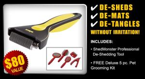 ShedMonster Deshedding Tool free grooming kit