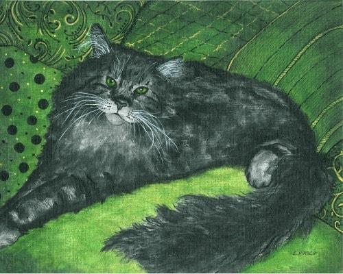 black-cat-painting