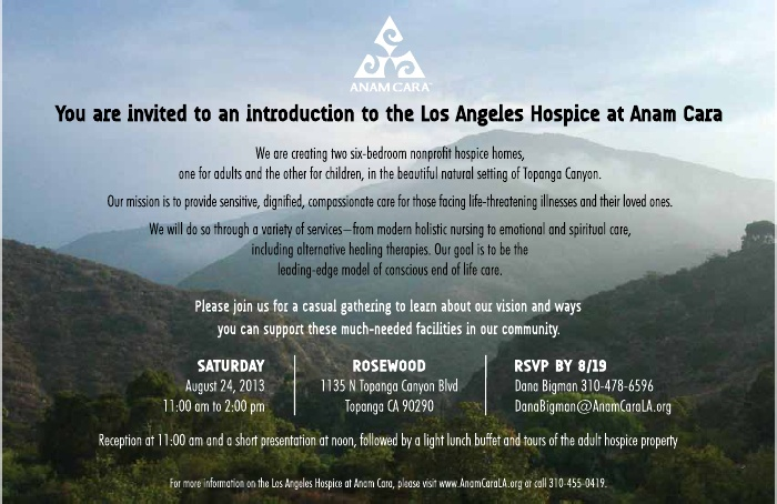 intro to LA Hospice at Anam Cara