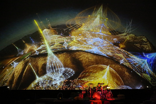 James Hood radiates viewers in a bath of light and sound at his ...