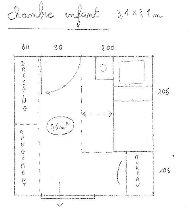 plan_chambre_enfant_1jpg 661 × 737 pixels Maison, puzzle Pinterest