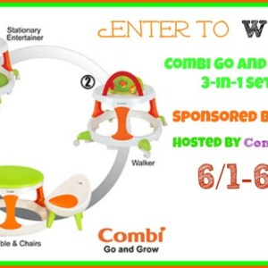 Combi Go and Grow 3-in-1 Set Giveaway ends 6/16