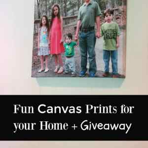Fun Canvas Prints + Giveaway from Canvas Factory ends 8/3