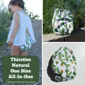Thirsties All Natural One Size All In One Cloth Diaper Review