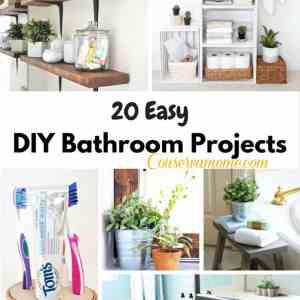 20 EASY DIY Bathroom Projects