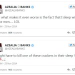 Black celebrity Azealia Banks: I might kill a cracker in their sleep!