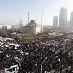Chechnya is about to blow. Hundreds of thousands march against Muhammed cartoons